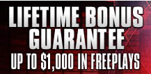 $1000 in free plays from BetOnline